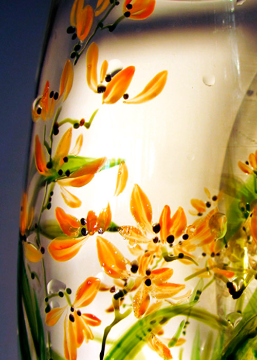 vase with orchid - part