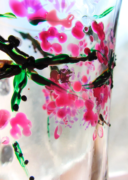 glass with blossoming branch - part