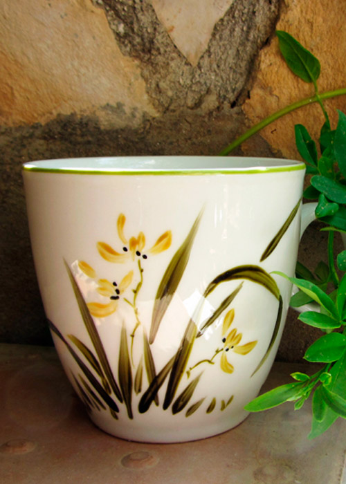 cup with orchid