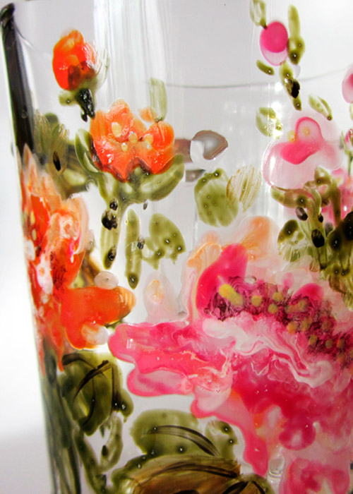 glass with peonies - part